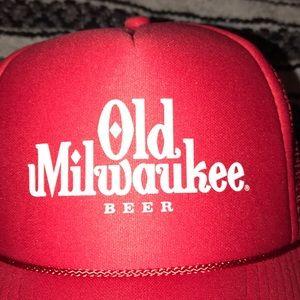 498c9acec69 Zumiez Accessories - Vintage Old Milwaukee Beer Trucker Cap 🔥